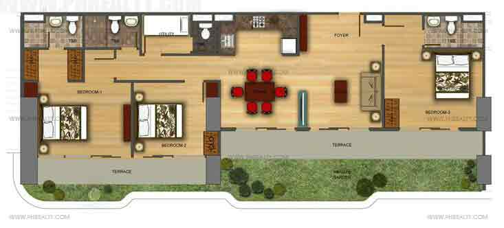 Three Bedroom Corner With Private Garden