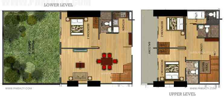 Three Bedroom With Private Garden (Level 2)