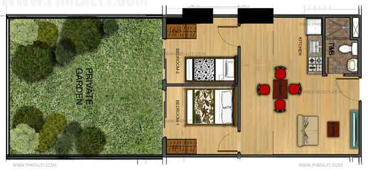 Two Bedroom With Private Garden