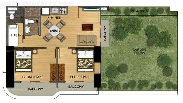 Two Bedroom With Sky Garden