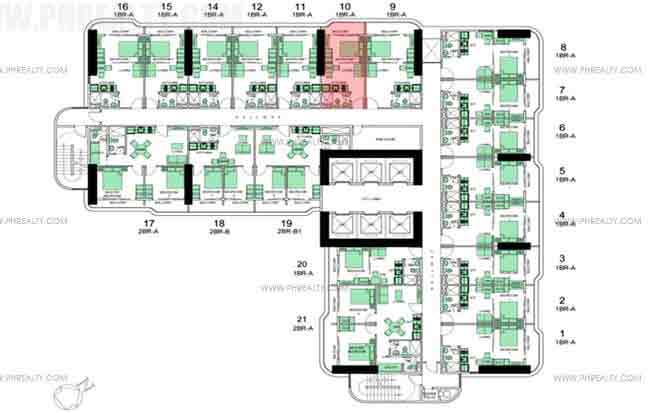 Typical Floor Plan 8th To 15th Floor
