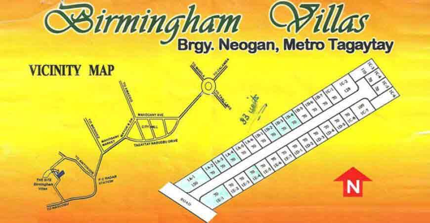 Birmingham Villas Location