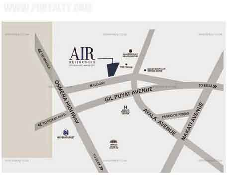 Air Residences Location