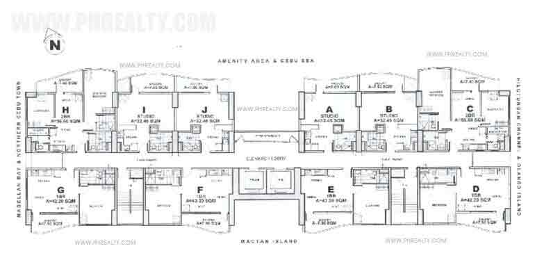 2nd to 14th Floor Plan