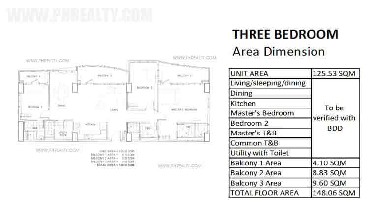 Three Bedroom Unit