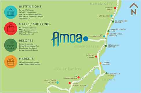 Amoa Cebu Location