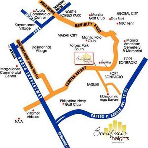 Bonifacio Heights Taguig Location