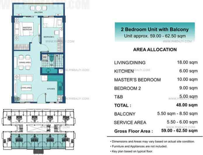 2 BR Unit With Balcony