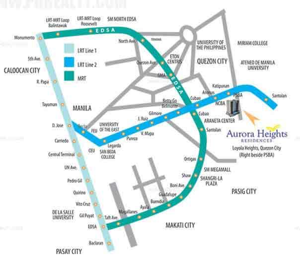 Aurora Heights Residences Location