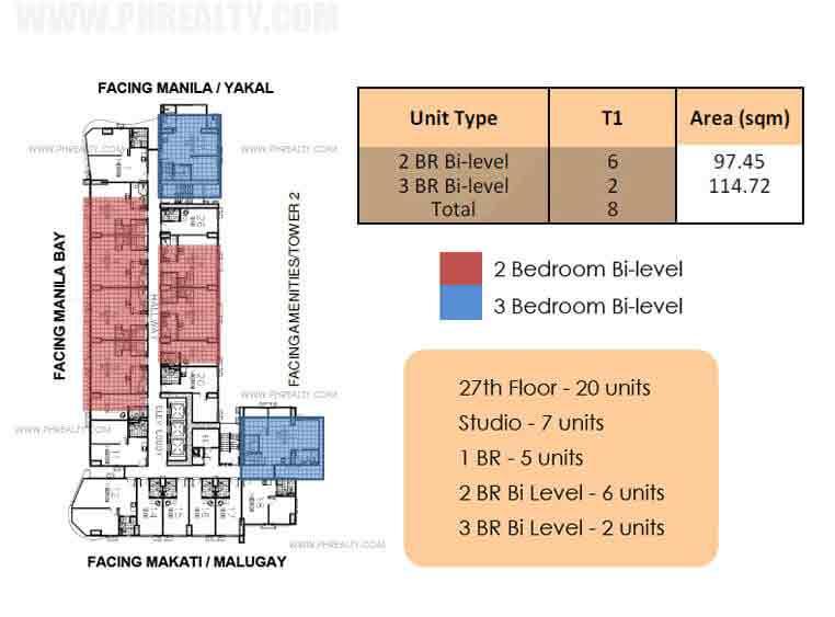 Bi Level Unit : 27th Floor