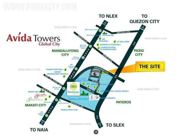 Avida Towers BGC 9th Avenue Location