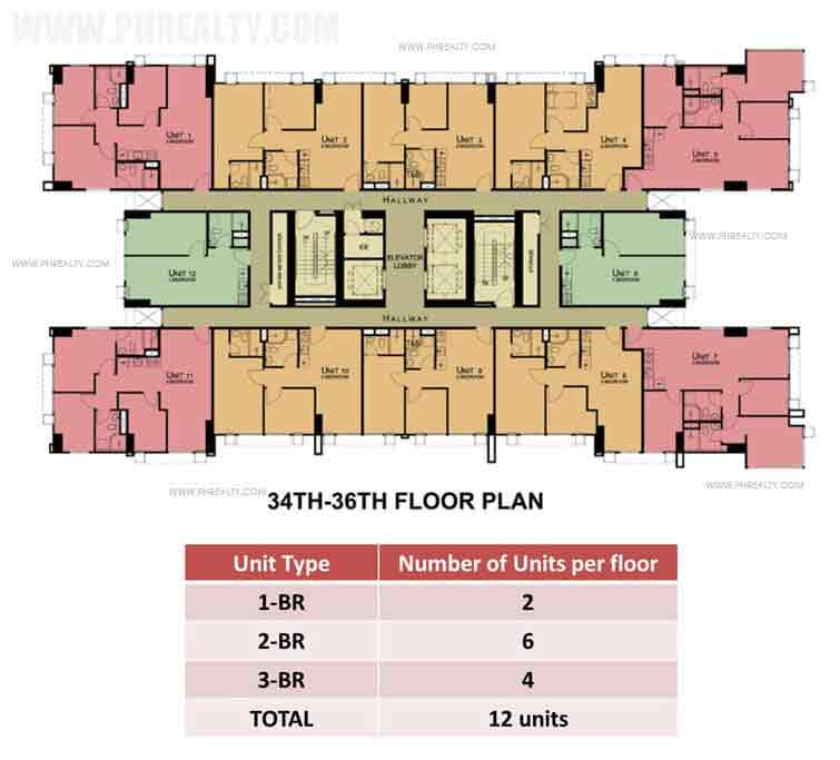 34th To 36th Floor Plan