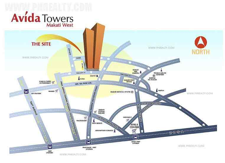 Avida Towers Makati West Location