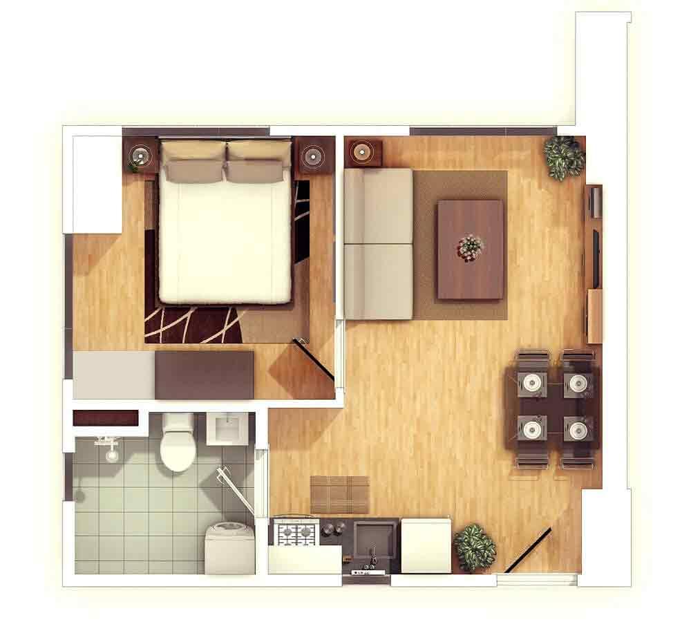 1 Br Floor Plan