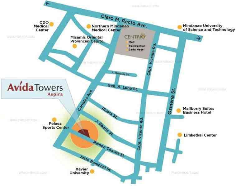 Avida Towers Aspira Location