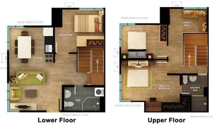 3 Bedroom Lower Floor Upper Floor