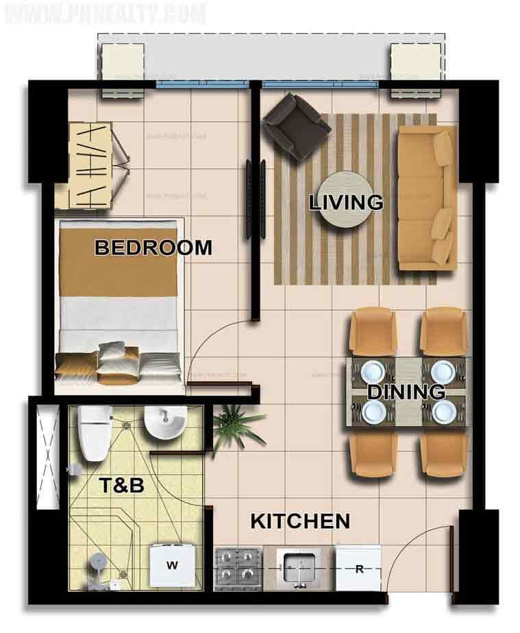 Unit Plan 1Bedroom