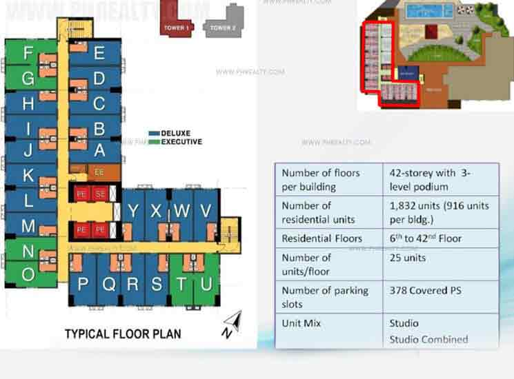 Typical Floor Plan Studio Combined