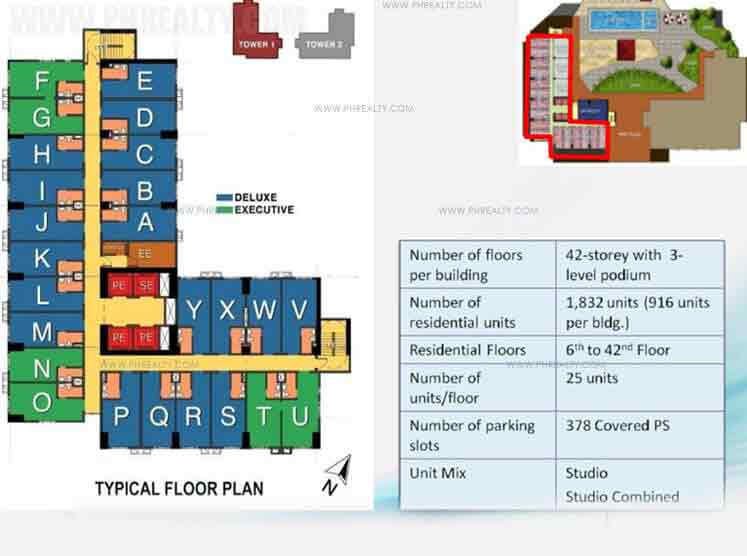 Typical Floor Plan Studio Combined