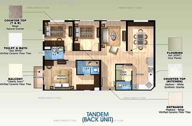 Back Unit Tandern without Balcony