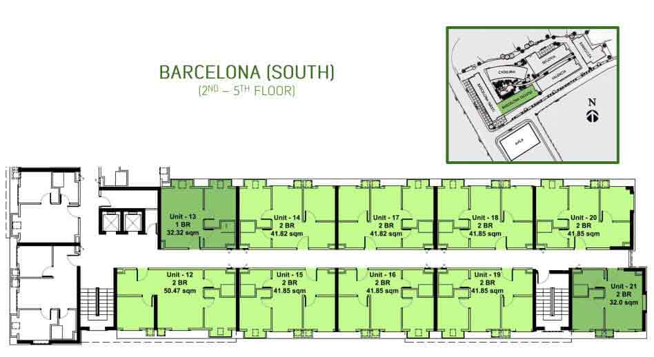 Barcelona South Floor Layout