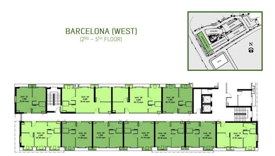 Barcelona West Floor Layout