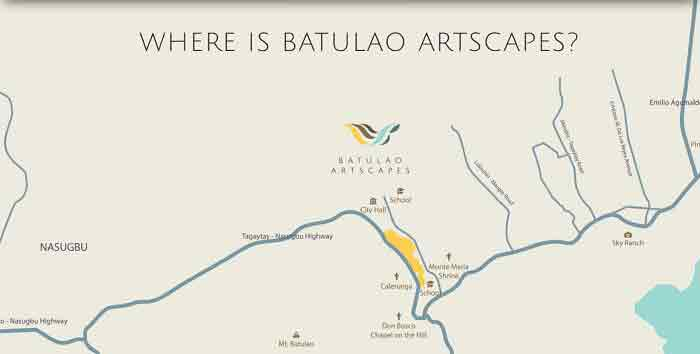 Batulao Artscapes Location