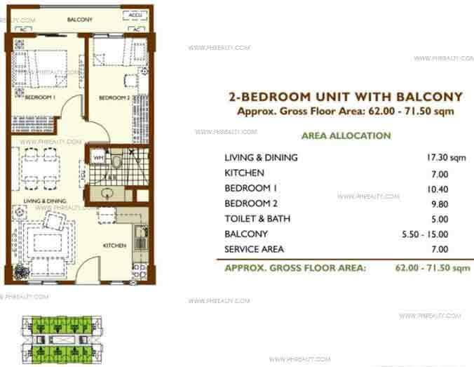 Unit With Balcony 2 Bedroom