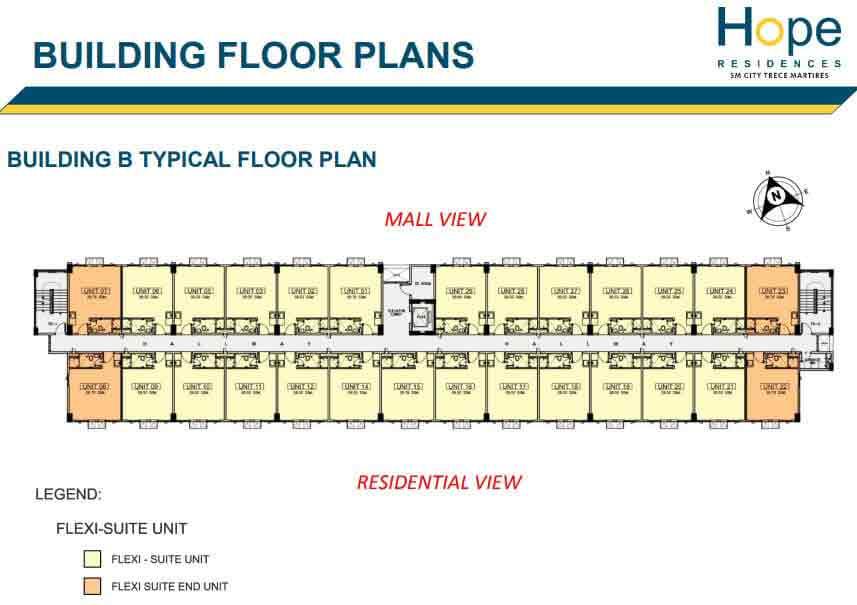 Building B - Typical Floor Plan