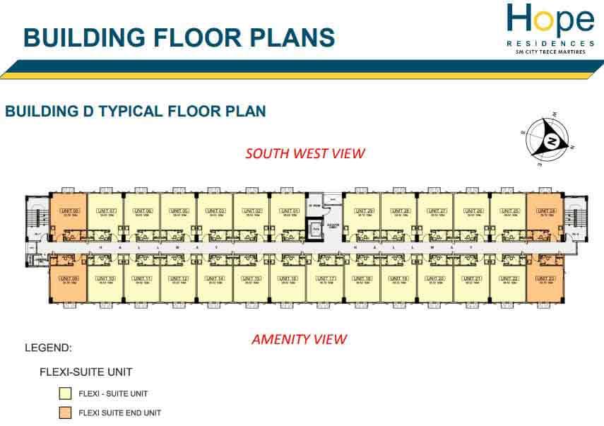 Building D - Typical Floor Plan