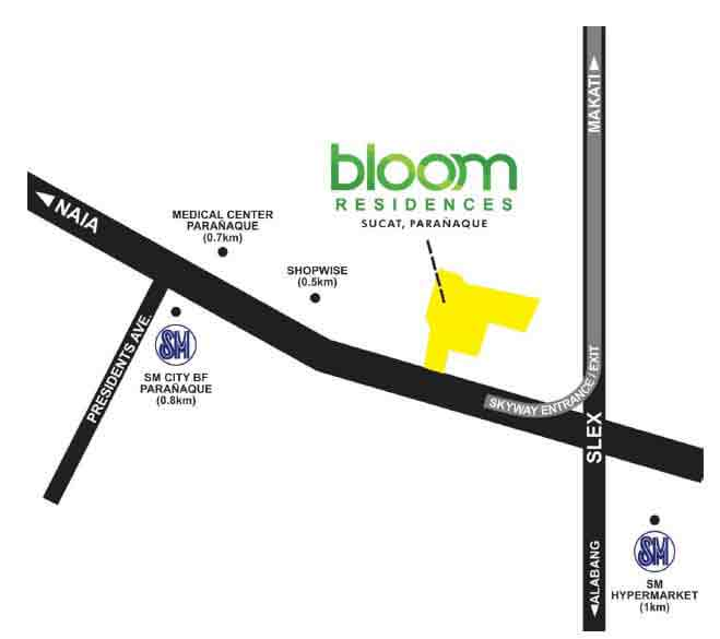 Bloom Residences Location