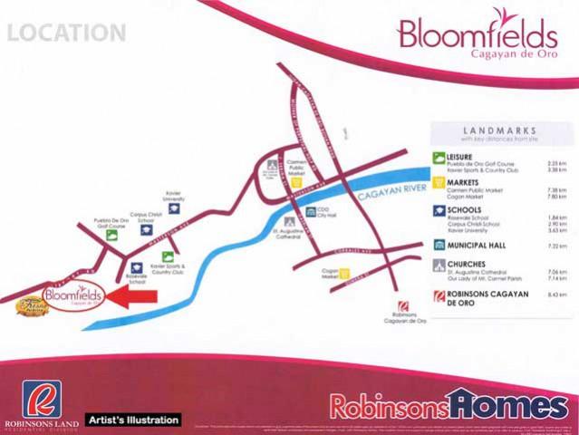 Bloomfields Cagayan de Oro Location