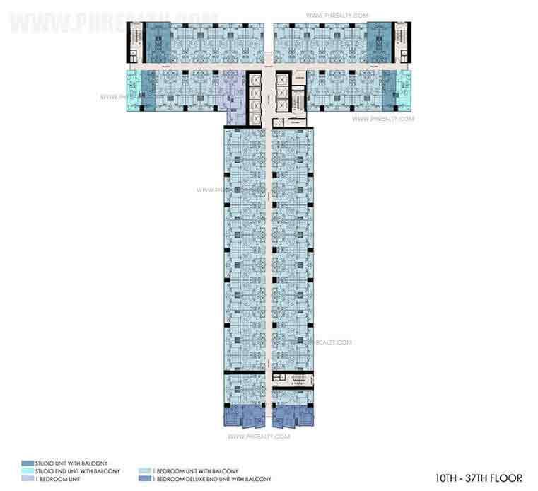 10th - 37th Floor