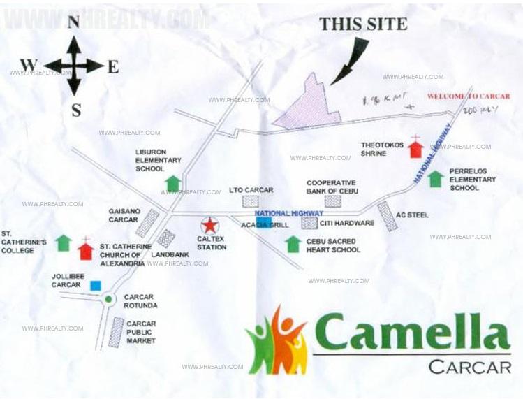 Camella Carcar Location