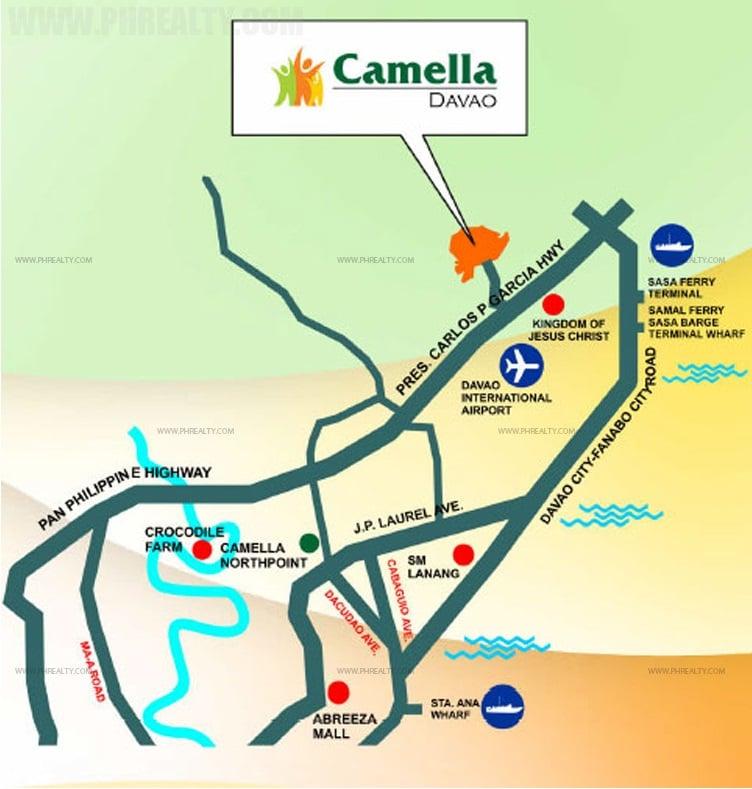 Camella Davao City Location