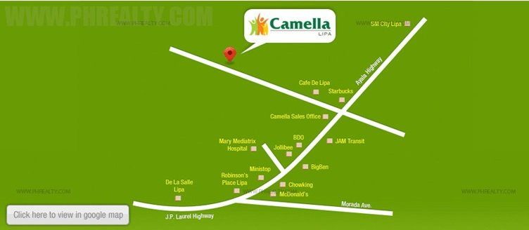 Camella Lipa Location