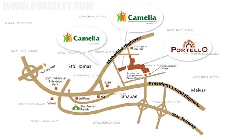 Camella Portello Location