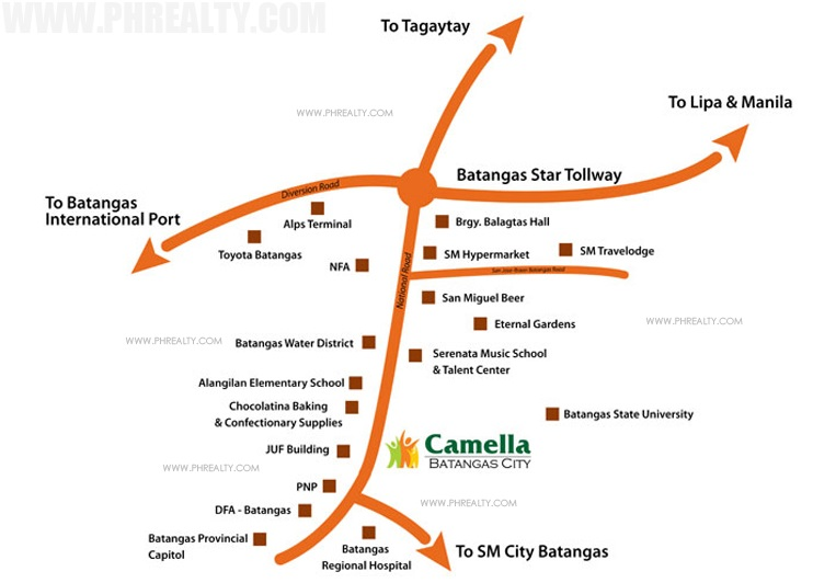 Camella Batangas City Location
