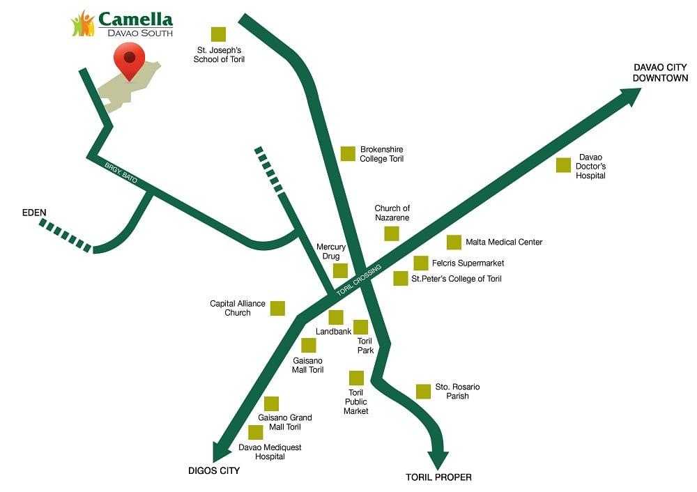 Camella Davao South Location