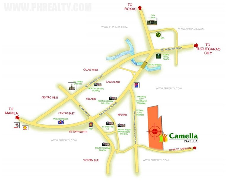 Camella Isabela Location