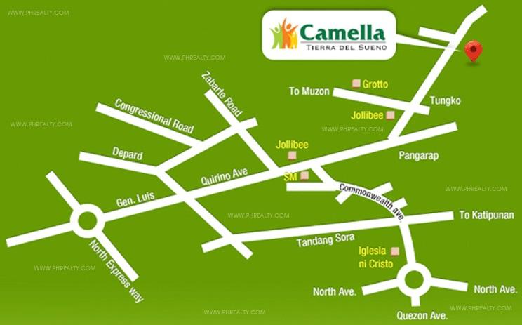Camella Tierra Del Sueno Location