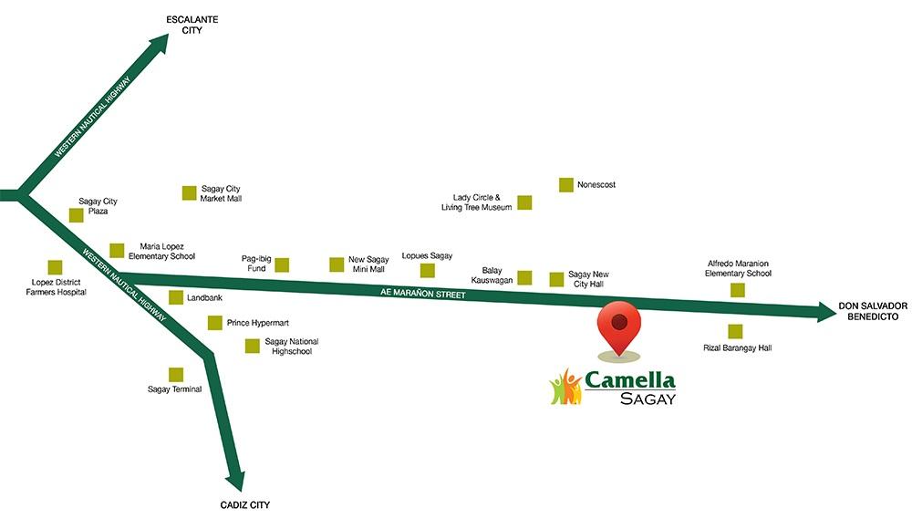 Camella Sagay Location