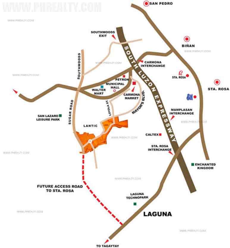 Carmona Estates Location