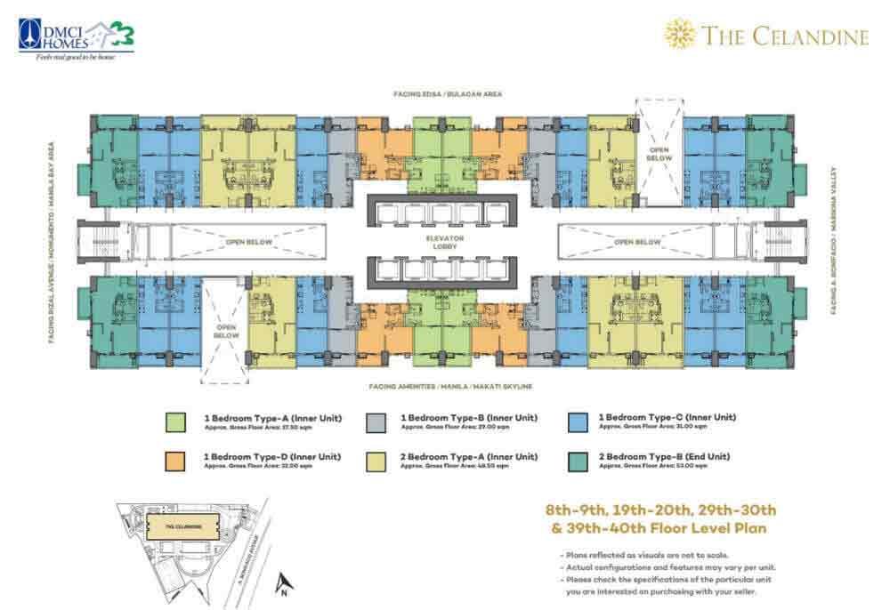 Celandine Residences QC - Floor Plans