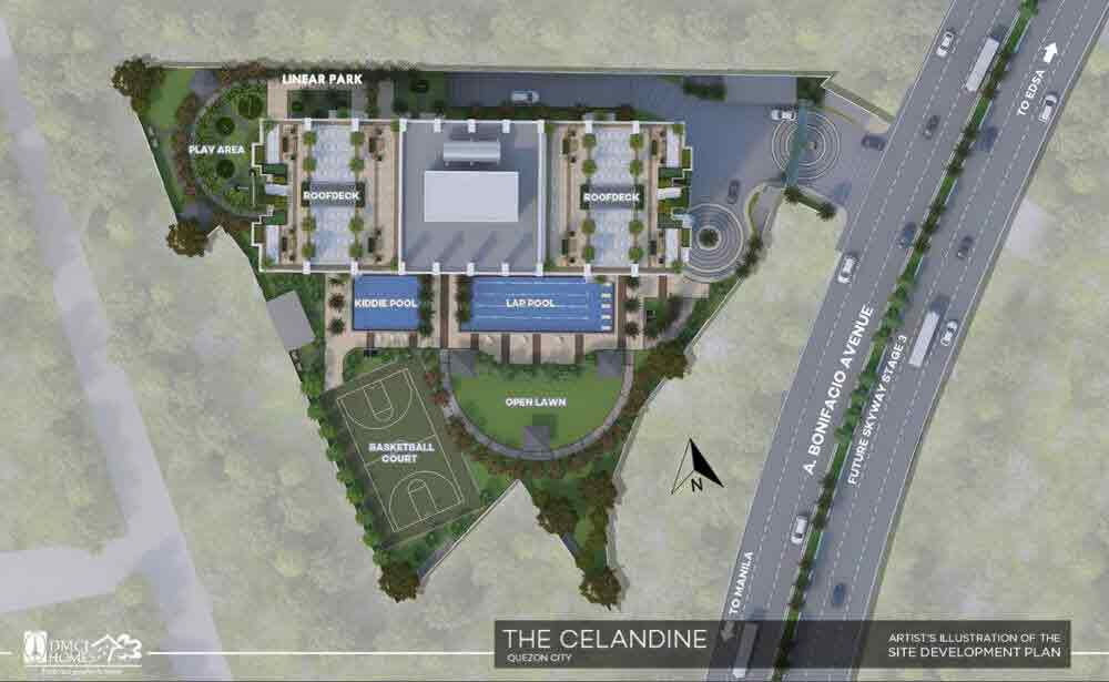 Celandine Residences QC - Site Plan