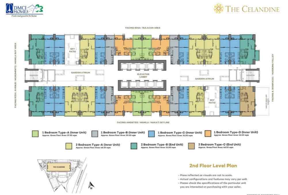 Celandine Residences QC - 2nd Floor Level Plan