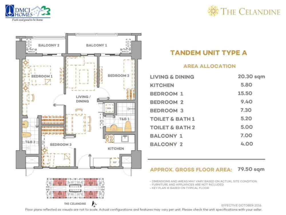 Celandine Residences QC - Tandem Unit Type A