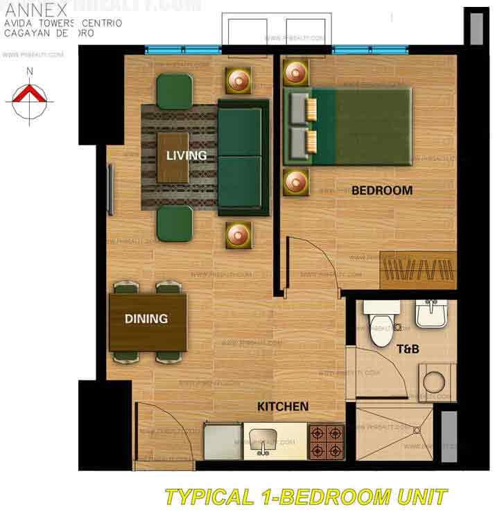 Centrio Tower 1 Bedroom Unit