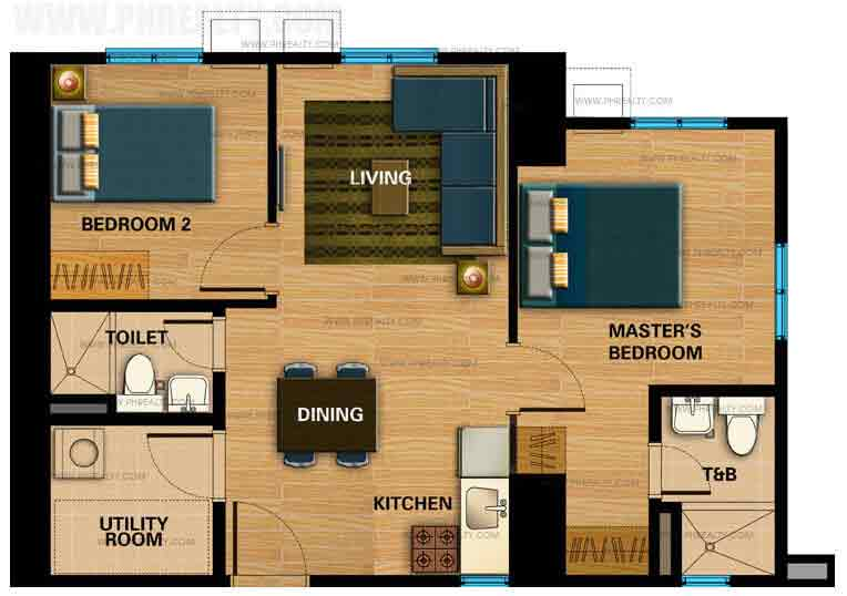 Centrio Tower 2 Bedroom Unit