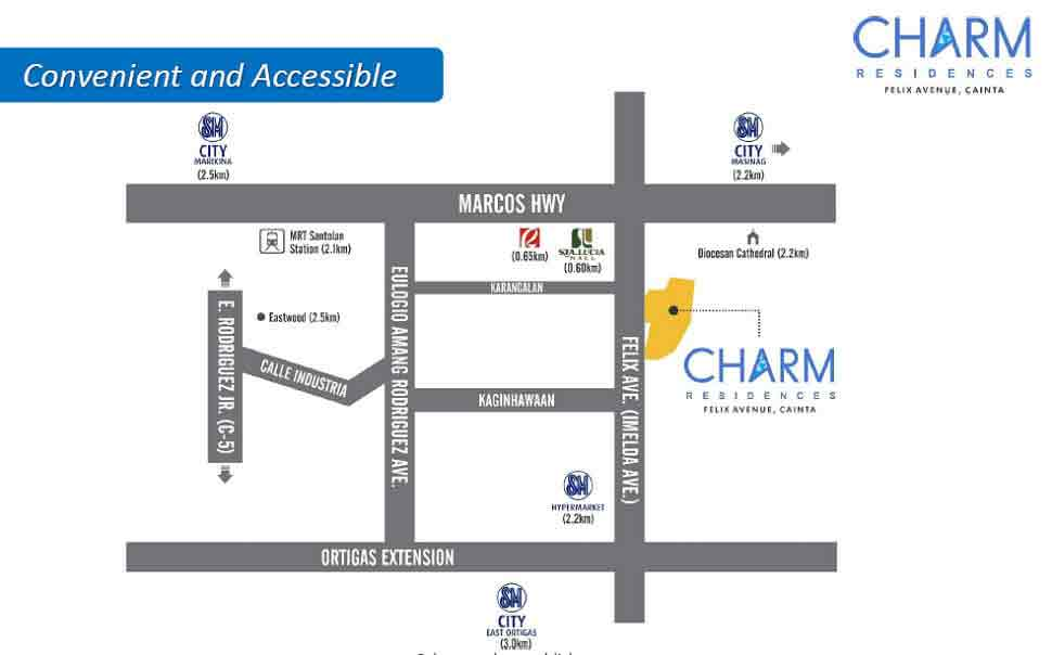 Charm Residences Location